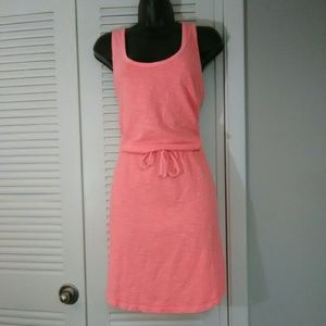GAP M easy comfort drawstring waist dress
